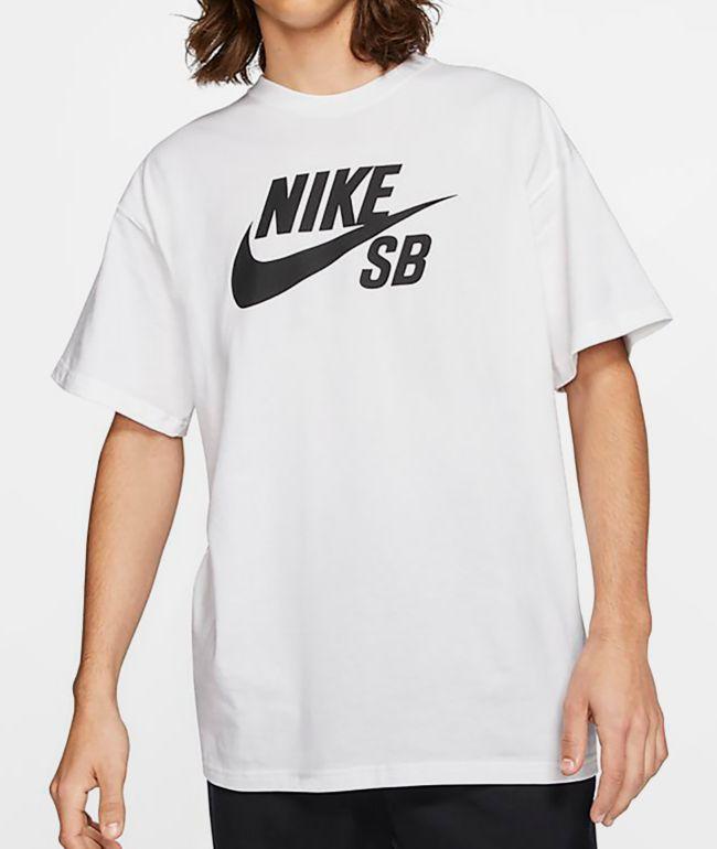 Nike SB Logo White & Black T-Shirt