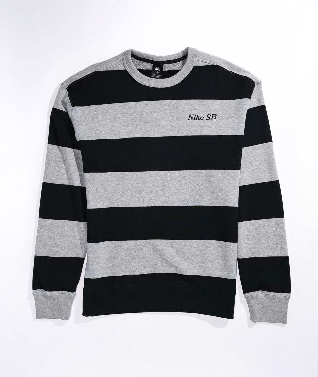 Nike SB Novelty Grey & Black Crew Neck Sweatshirt
