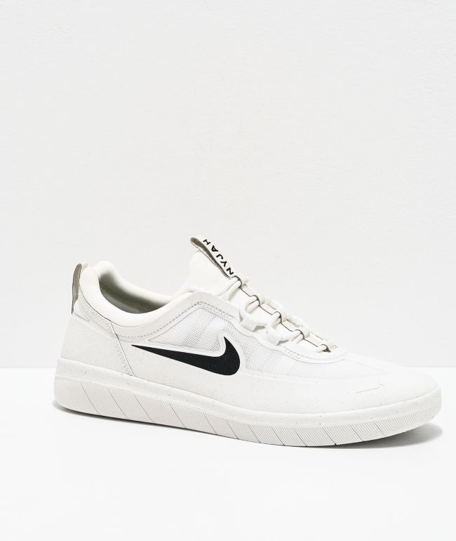 Nike SB Nyjah Free 2.0 Summit White Skate Shoes