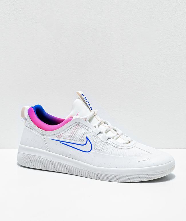 Nike SB Nyjah Free 2.0 zapatos de skate blancos