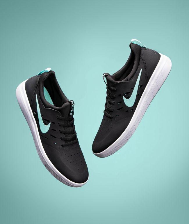 Nike SB Nyjah Free Black, Tropical