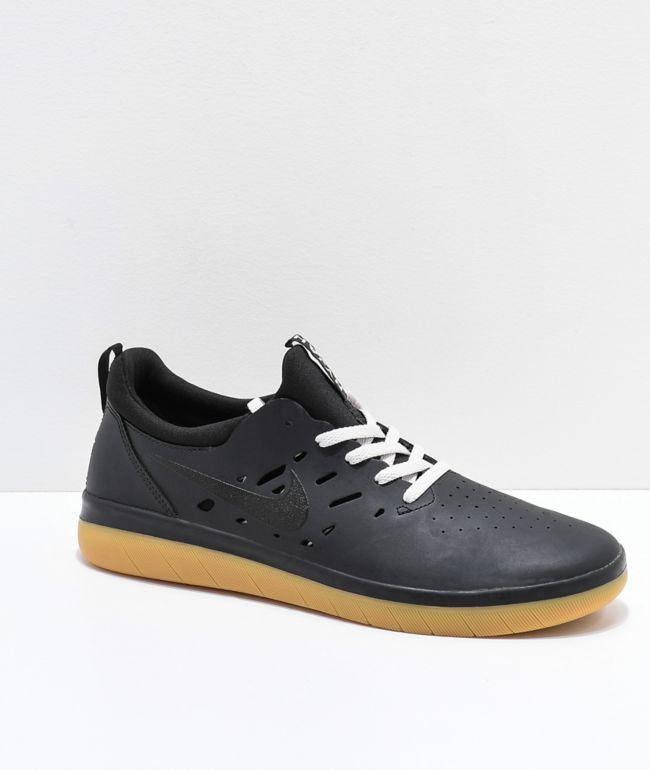 Nike SB Nyjah Free Black \u0026 Gum Skate
