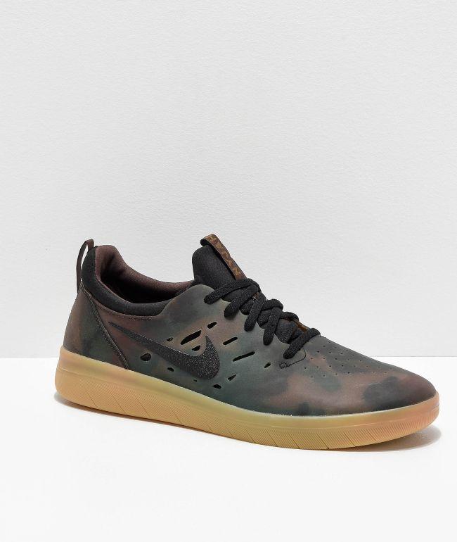 Nike SB Nyjah Free Camo \u0026 Gum Skate
