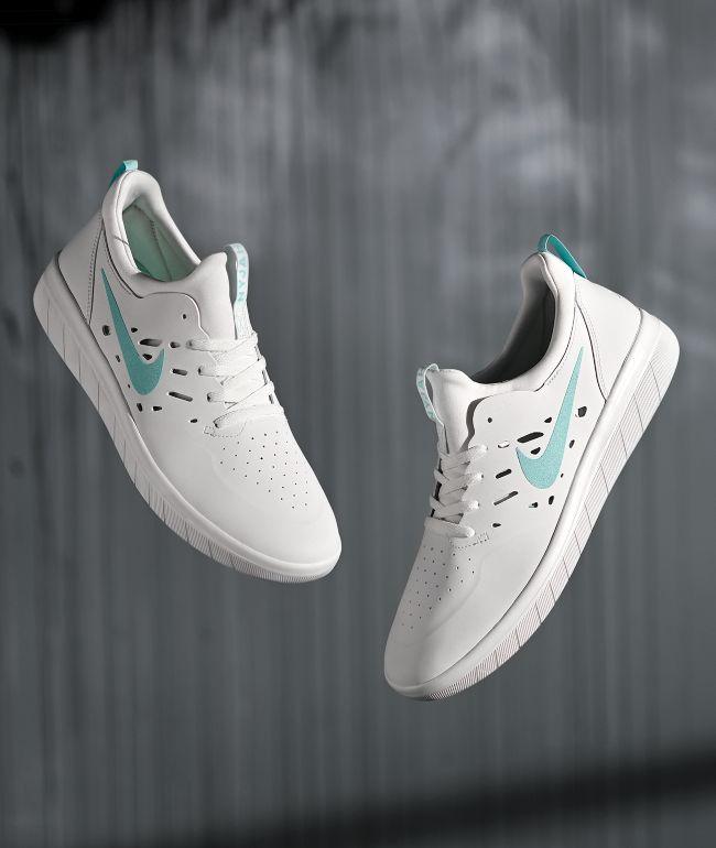 Nike SB Nyjah Free White \u0026 Tropical
