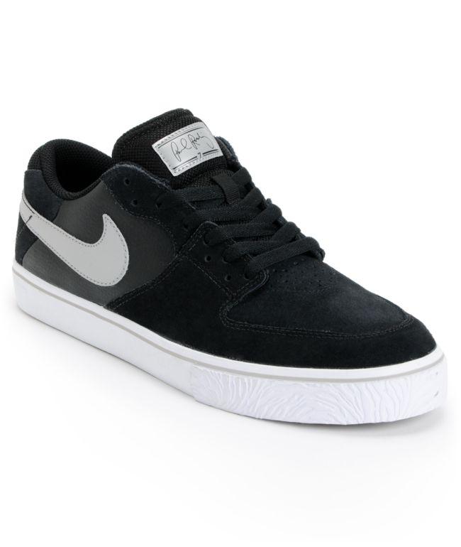 Nike SB P-Rod 7 VR Black, White, & Silver Skate Shoes   Zumiez