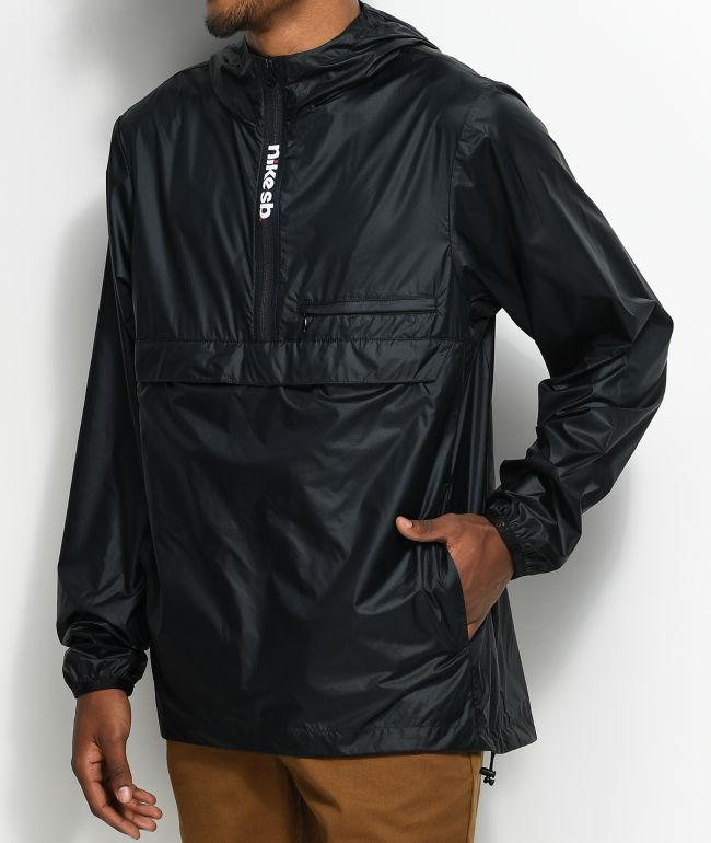 Nike SB Packable Black Anorak Jacket