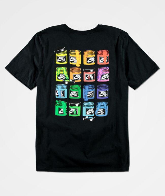 Nike SB Paint Cans Black T-Shirt
