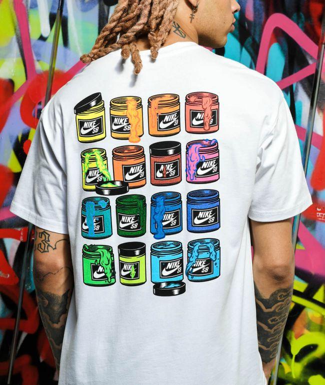 Nike SB Paint Cans White T-Shirt