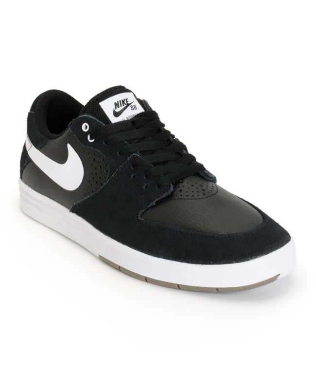 Nike SB Paul Rodriguez 7 Black & White Skate Shoes