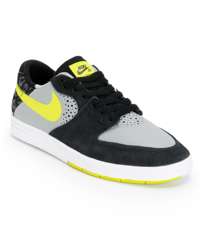 Pronunciar Asado Activar  Nike SB Paul Rodriguez 7 Grey, Venom, & Black Skate Shoes   Zumiez