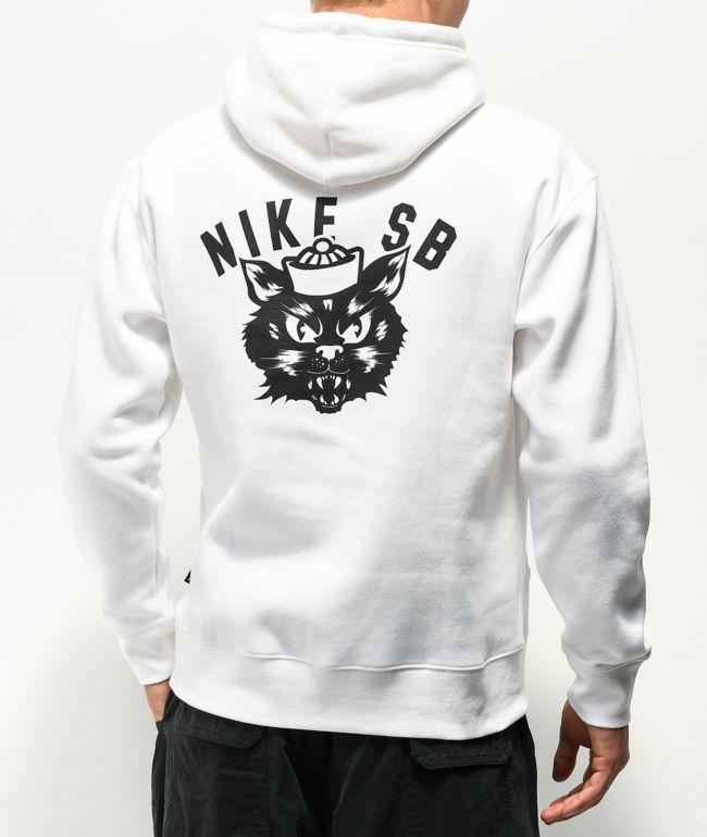 Nike SB Saber Cat White Hoodie
