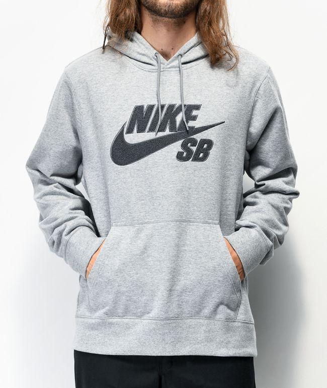 Cumplimiento a novedad leyendo  Nike SB Seasonal Grey Hoodie | Zumiez