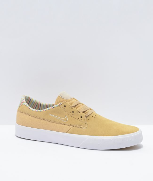 Nike SB Shane Beige Striped Skate Shoes