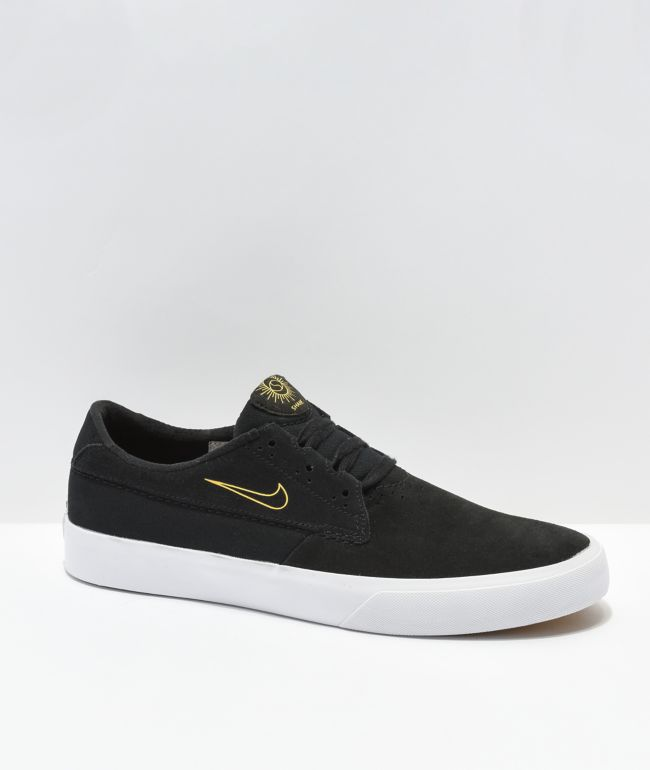 Nike SB Shane Black & University Gold Skate Shoes