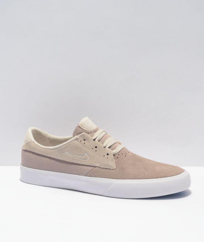 Nike SB Shane Malt, Desert & White Skate Shoes