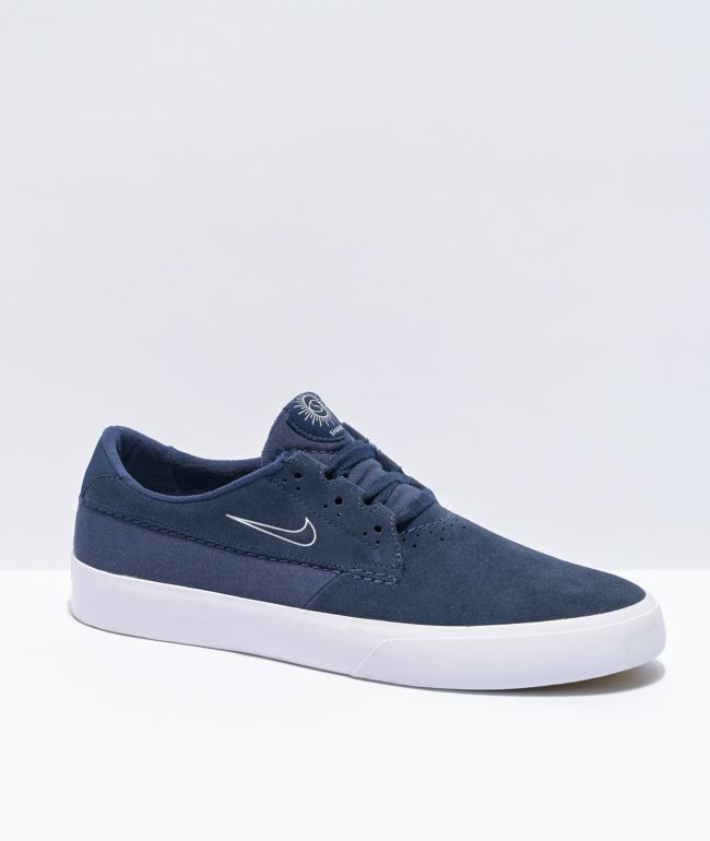Nike SB Shane Navy & White Skate Shoes