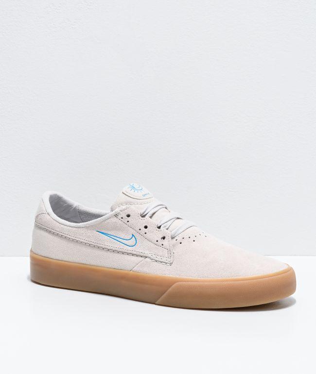 Nike SB Shane Black & White Skate Shoes | Zumiez