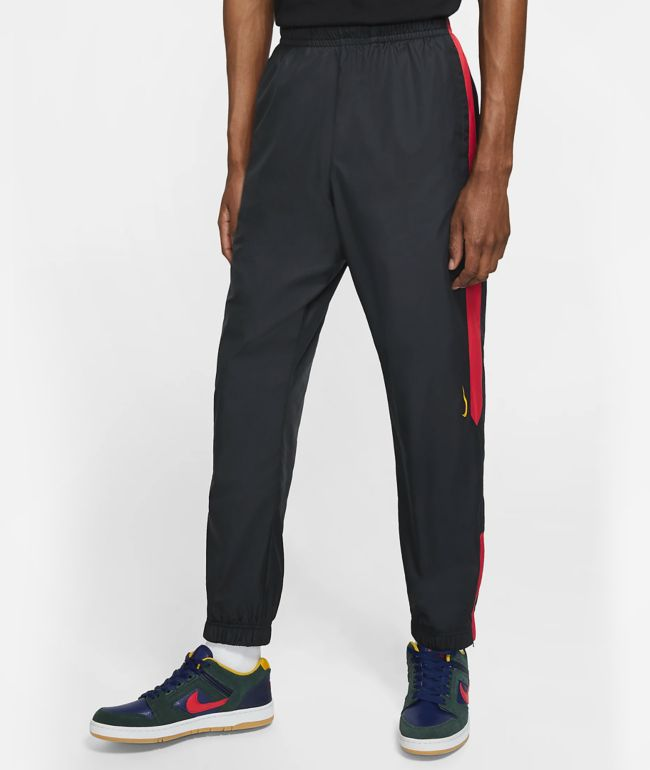 Nike SB Shield Black, University Red & Gold Track Pants