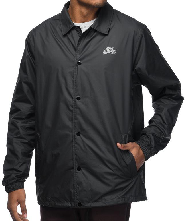 aniversario hogar cerrar  Nike SB Shield chaqueta entrenador en negro | Zumiez