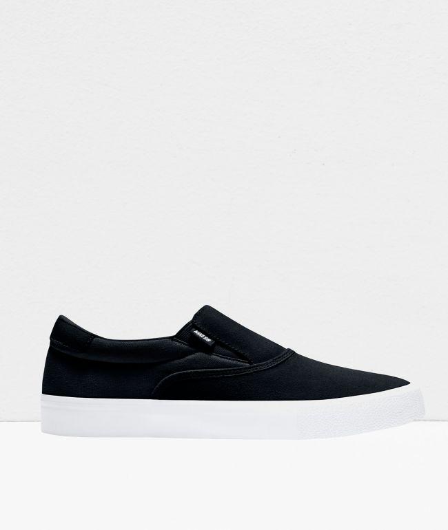 Nike SB Slip-On Verona Black & White White Skate Shoes