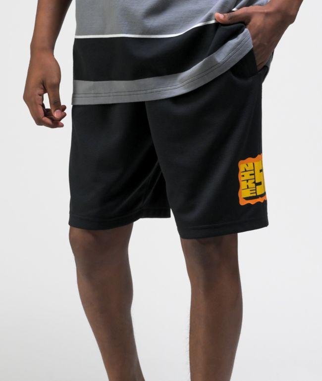 Nike SB Sunday Black & Yellow Basketball Shorts
