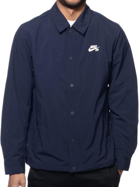 Rico ola Campanilla  Nike SB chaqueta Coach en azul marino   Zumiez