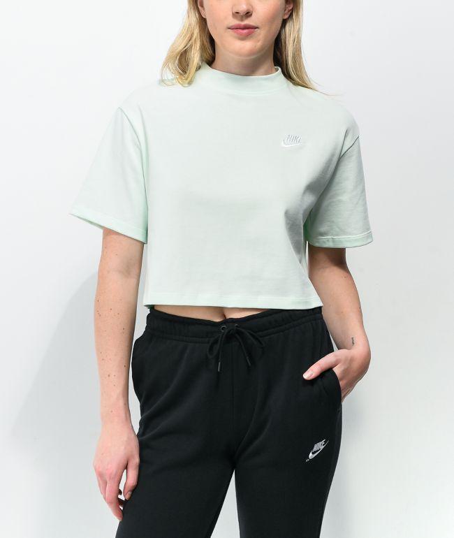 Nike Sportswear Jersey Green Crop T-Shirt