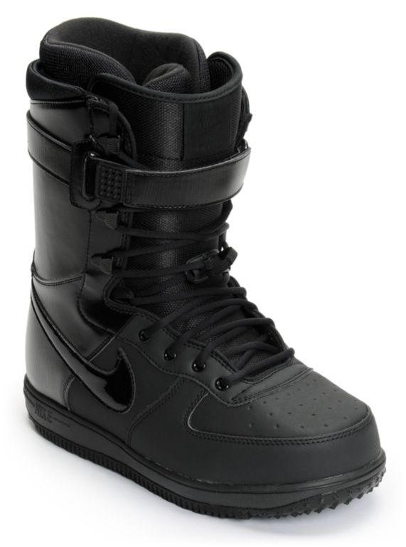 Nike Zoom Force 1 All Black Snowboard
