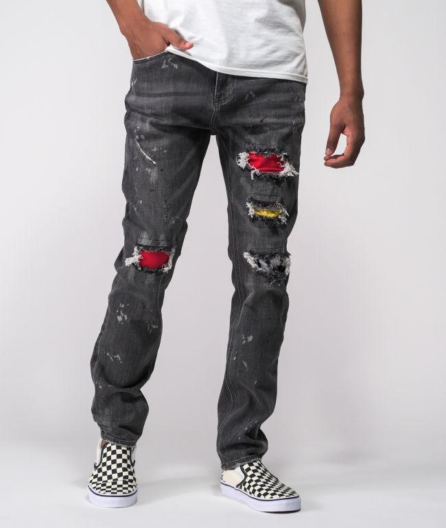 Ninth Hall Lure Debris Smoke Skinny Jeans