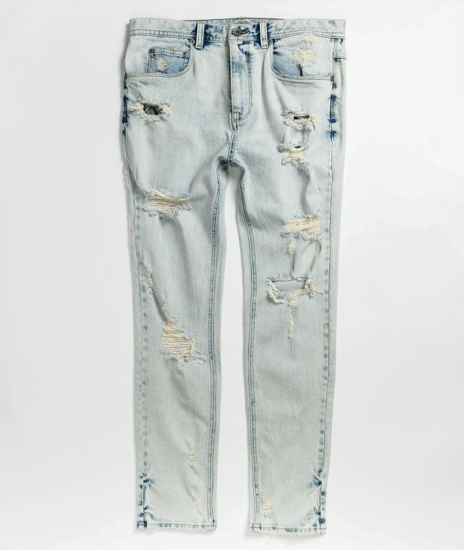 Ninth Hall Lure Noise Light Wash Skinny Jeans