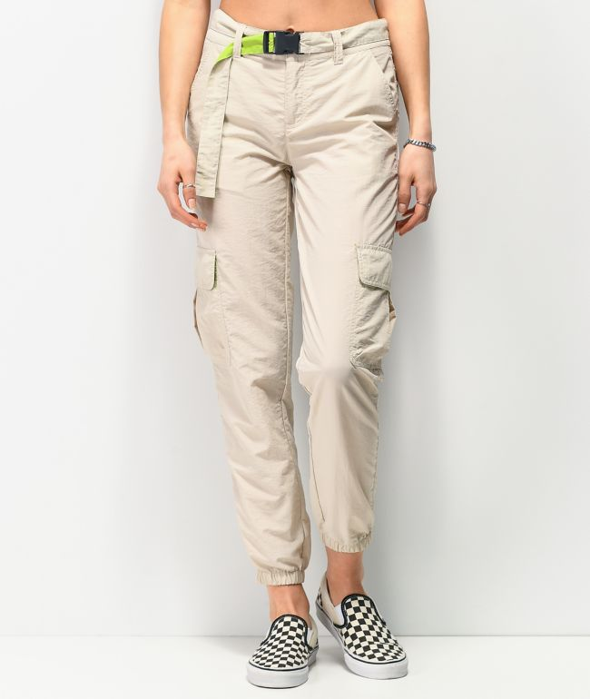 Ninth Hall Raines Buckle Belt Rainy Day Cargo Pants
