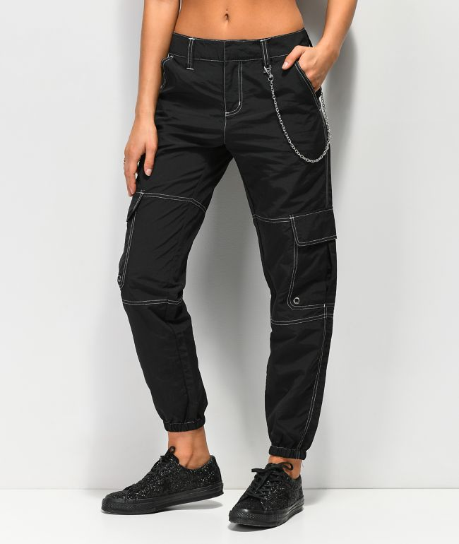Ninth Hall Talia Black Parachute Pants