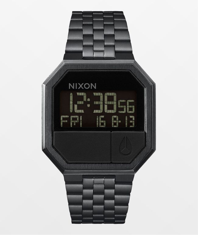 Nixon Re-Run Black Digital Watch