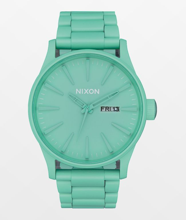 Nixon Sentry SS Mint Analog Watch