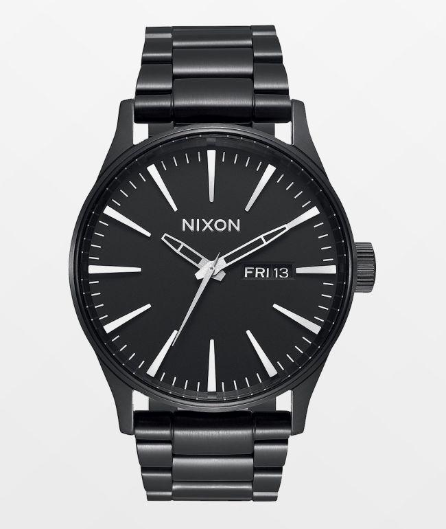 Nixon Sentry SS reloj analógico todo negro