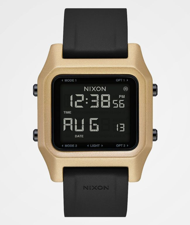 Nixon Staple Black & Gold Digital Watch