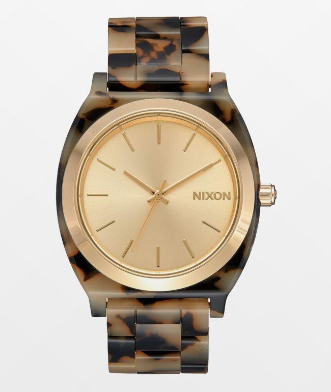 Nixon Time Teller Acetate Cream & Tortoise Analog Watch