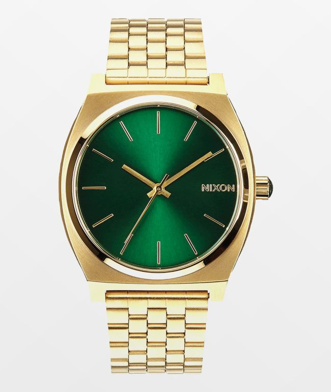 Nixon Time Teller Gold & Green Analog Watch
