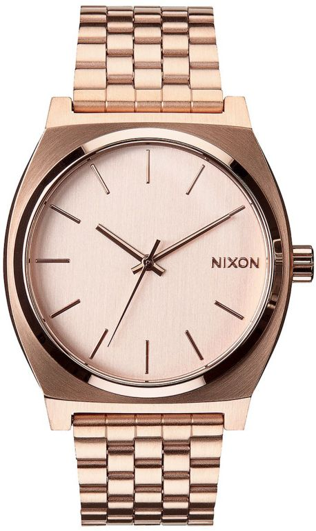 Nixon Time reloj analógico en color oro rosa
