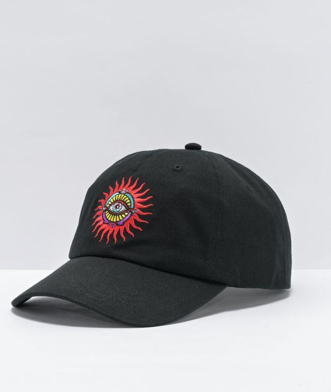 NoHours Behold Black Strapback Hat