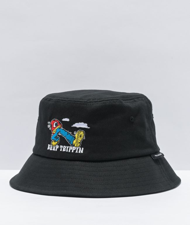 NoHours Keep Trippin Black Bucket Hat