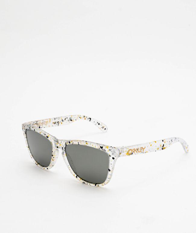 Oakley Frogskins Splatter Clear Prizm Black Sunglasses