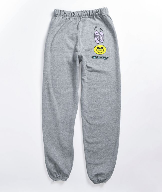 Obey Acid Crash Grey Jogger Sweatpants
