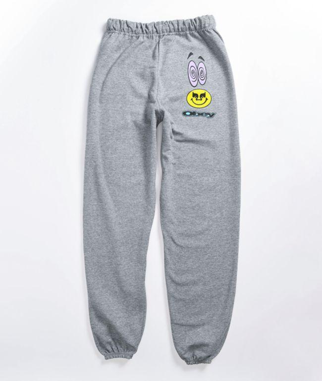 Obey Acid Crash Grey Sweatpants