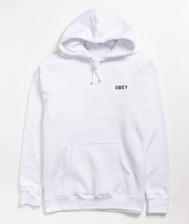 Obey Afton White Hoodie