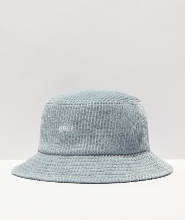 Obey Bold Icy Blue Corduroy Bucket Hat