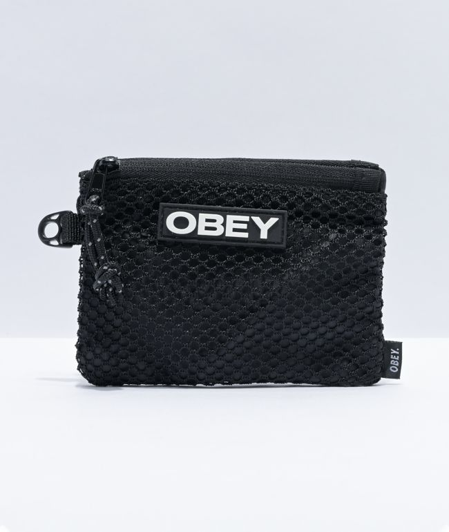 Obey Commuter Small Black Pouch