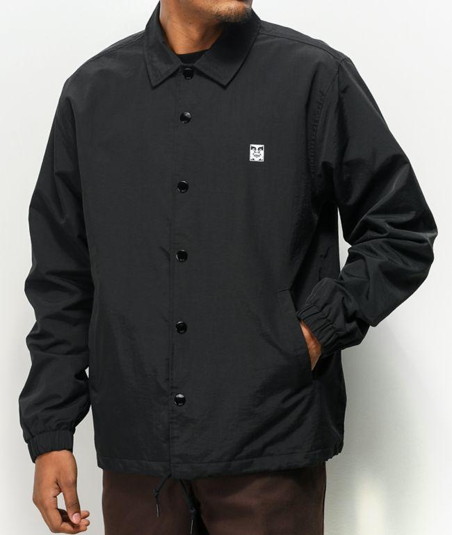 Obey Icon Black Coaches Jacket