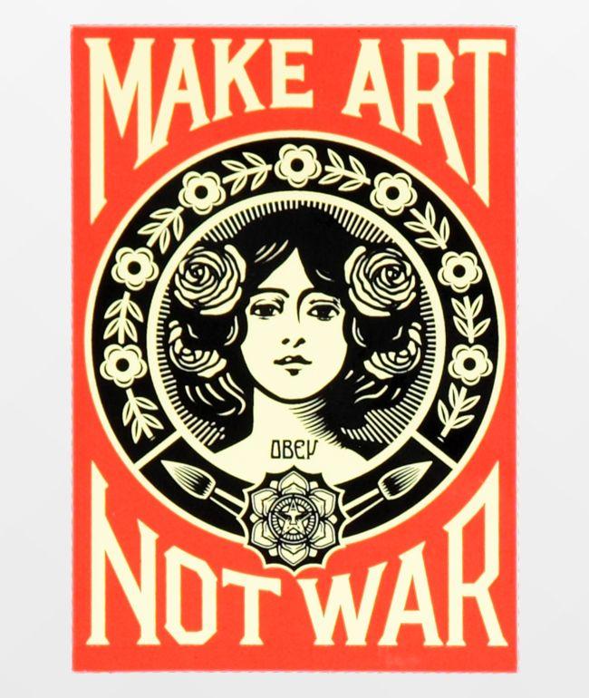 Obey Make Art Not War Sticker