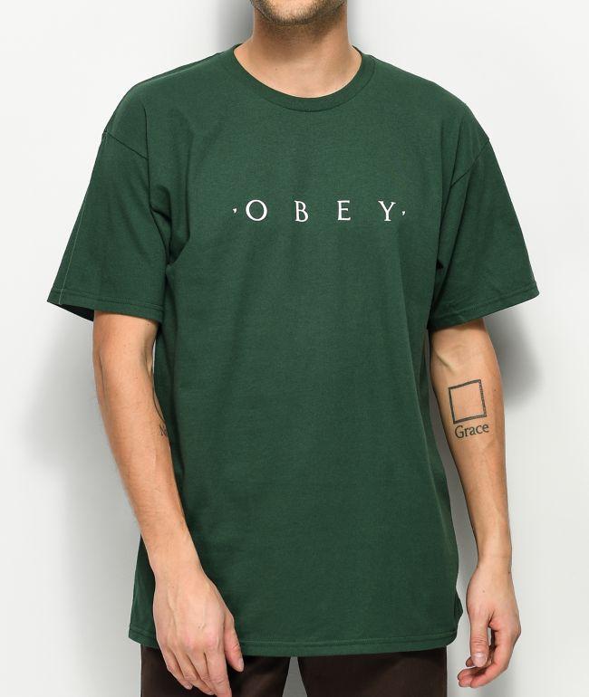 Obey Novel Forest Green T-Shirt
